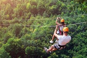 couple that discovered ziplines as one of the top proposal ideas