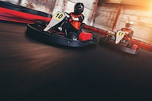 a go kart track in Northern Virginia