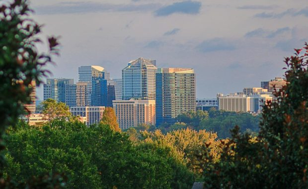 a view of Northern Virginia from DC