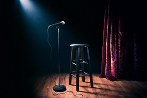 exciting date idea at a comedy club